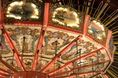Merry-go-Round Details royalty free stock photo