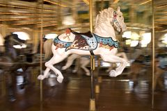 Merry-go-round do cavalo Imagem de Stock Royalty Free