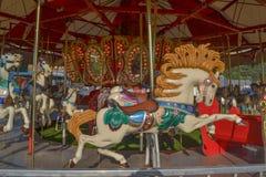 Merry-Go-Round. At the Fair Stock Photo