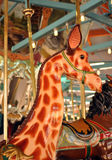 Merry-Go-Round Giraffe Royalty Free Stock Images