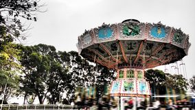 Merry go round Hong Kong ocean park stock images