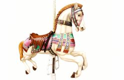 Merry-go-round horse Royalty Free Stock Images