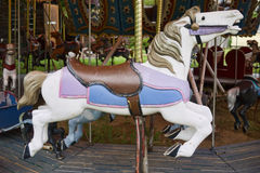 Merry Go Round Horse. A colorful merry go round horse on a amusement ride royalty free stock photo