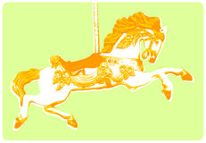Merry Go Round Horse. Illustration of a Merry Go Round Horse - Silk screen style Royalty Free Stock Images