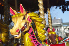 Merry-go-round horse Stock Photo