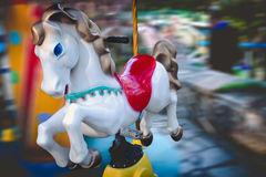 Merry-go-round horse carousel. Royalty Free Stock Photos