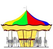 Merry-Go-Round Horse Carousel Vector Royalty Free Stock Images
