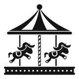 Merry go round horse ride icon, simple style. Merry go round horse ride icon. Simple illustration of merry go round horse ride vector icon for web Stock Photos