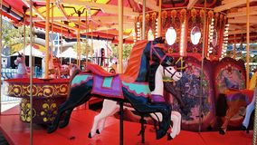 Merry Go Round Horses Stock Photo