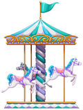 Merry go round. Illustration of a close up merry go round Royalty Free Stock Images
