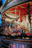 Merry go round,  Jubilee Gardens South Bank London England - Royalty Free Stock Photo