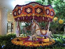 Merry go round at Las Vegas royalty free stock photography