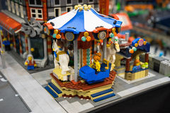 Merry go round lego Royalty Free Stock Image