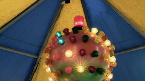 Merry-go-round lights ball stock footage