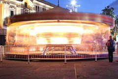 Merry go round long exposure stock image