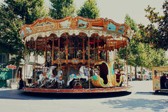 Merry-go-round in Marseille, France Royalty Free Stock Images