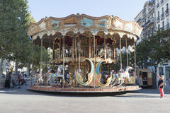 Merry go round in Marseille, France Royalty Free Stock Photos