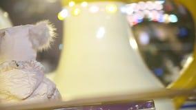 Merry-Go-Round. Carousel illuminated at night stock footage