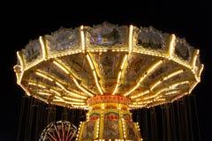 Merry-go-Round na noite Foto de Stock
