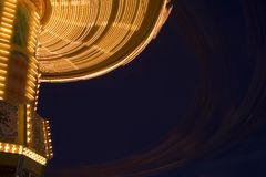 Merry go round at night. A merry go round at nightime Royalty Free Stock Photo