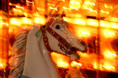 Merry-go-round at night Royalty Free Stock Image