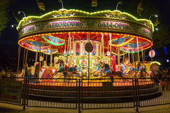 Merry go round at night Royalty Free Stock Image