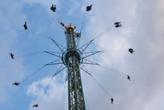 Merry-go-round, Park Tivoli. Royalty Free Stock Images