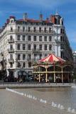 Merry-go-round on Place de la Republique Royalty Free Stock Photos
