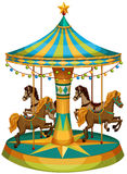 A merry-go-round ride. Illustration of a merry-go-round ride on a white background Royalty Free Stock Images