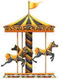 A merry-go-round ride. Lllustration of a merry-go-round ride on a white background Royalty Free Stock Images