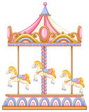 A merry-go-round rotating ride Royalty Free Stock Image