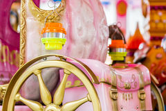 Merry-go-round seats Royalty Free Stock Images