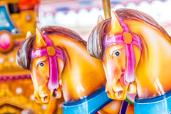 Merry-go-round seats Royalty Free Stock Photography
