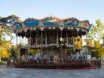 Merry-Go-Round in Skanderbeg Square Tirana Albania