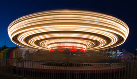 Merry go round spinning Royalty Free Stock Photo