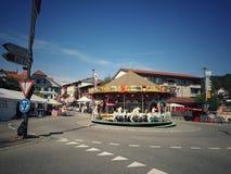 Merry go round. At Switzerland Stock Photo