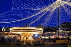 Merry-go-round. A town fair in Sibiu's Grand Square stock photos