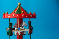 Toy merry-go-round royalty free stock photography