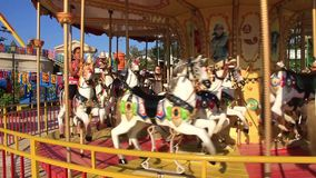 Merry-go-round stock footage