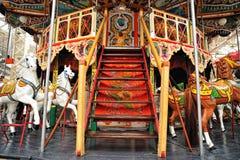 Merry-go-Round vintage carousel Royalty Free Stock Photo