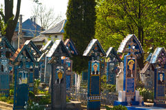 Merry Graveyard. In Sapanta, Maramures, Romania Stock Photography