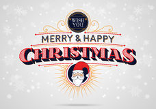 Merry and Happy Christmas Royalty Free Stock Images
