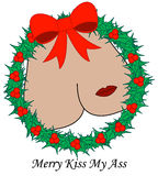 Merry Kiss My... Stock Photo