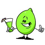 Merry Lime fruit juice cartoon illustration Stock Images