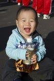 Merry Little marathon runner Stock Photos