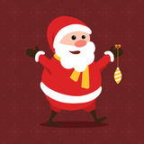 Merry little Santa Claus Royalty Free Stock Photography