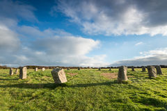 The Merry Maidens Stone Circle Royalty Free Stock Photos