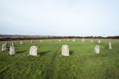 The Merry Maidens Stone Circle in Cornwall Royalty Free Stock Photos