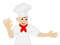 Merry man cook on a white background Stock Image
