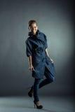 Merry model posing in stylish demi-season clothing Stock Photo